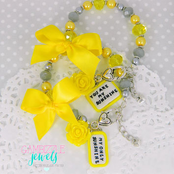 you are my sunshine my only sunshine best friends mother daughter sisters matching bracelets