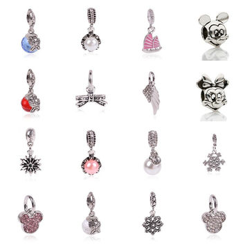 Fun and Cute Charm Dangle Pendant Mickey Mouse Minnie Mouse Perfect DIY Snake Chain Bracelet Fit