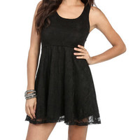 Lace Back Skater Dress | Shop Dresses at Wet Seal