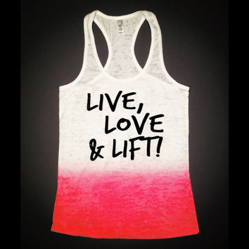 Live Love Lift // Workout Clothing // by AbundantHeartApparel
