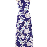 Cupshe Midnight Garden Floral Maxi Dress