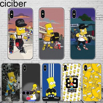 ciciber Cartoons Anime The Simpsons Phone Cases Cover For iPhone 7 Case 8 6 6S plus X XR XS Max 5 Soft Silicone TPU Fundas Coque