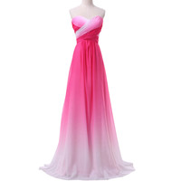 Real Picture Ombre prom dresses 2016 New Grace Karin Gradient Colorful Sexy party Dresses vestido de festa prom gowns cheap