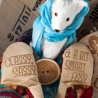 State Mitts - Classy, Sassy and Smart Assy  - Whimsically Fun Mittens-Stick 'em up and make a Statement