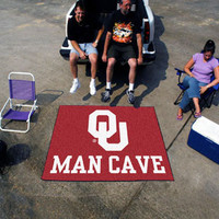 "University of Oklahoma  Man Cave Tailgater Rug 60""x72"""