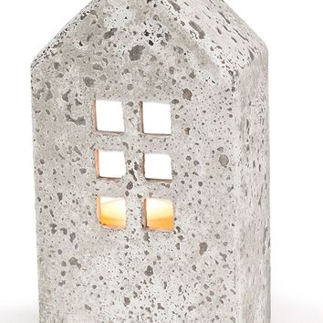 Stone House Candle Holder -- Large Tall