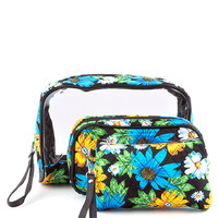Sunflower Quilted Cosmetics Bag