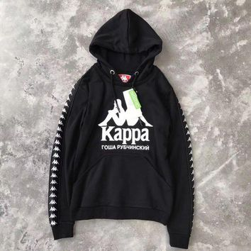 ONETOW Kappa x Gosha Woman Men Fashion Hooded Top Sweater Pullover Hoodie-2