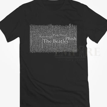 Typography Music Quotes The Beatles Unisex/Men Tshirt All Size