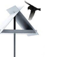 Aluminium bird feeder VH-3 by OPOSSUM Design