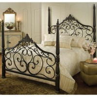 Parkwood Iron Bed In Black Gold by Hillsdale Furniture | Humble Abode