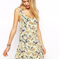 Afends Sunflower Dress With Racer Back Detail