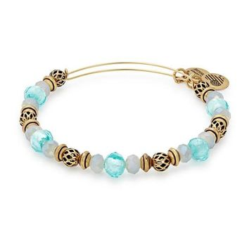 Alex and Ani Tide Moon Beaded Bangle - Rafaelian Gold Finish