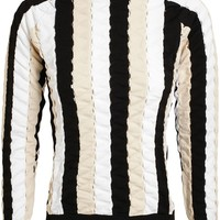 J.W. Anderson Perforated Stretch-Knit Jumper