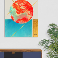 «Earth & Sea», Numbered Edition Canvas Print by Uma Gokhale - From $49 - Curioos