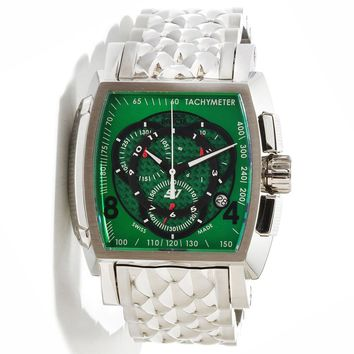 Invicta 10560 Men's S1 Rally Green Dial Stainless Steel Chronograph Watch