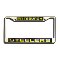 Pittsburgh Steelers Laser Cut Chrome License Plate Frame
