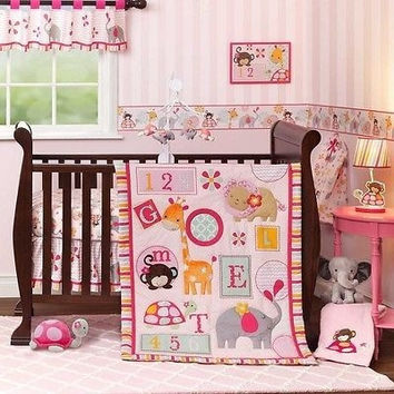 Lambs & Ivy Bedtime Originals 3 Pc Baby Crib Nursery Bedding Set Jungle Sweeties