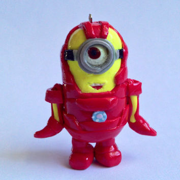 Custom Minion Iron Man Mini Figure/ Charm