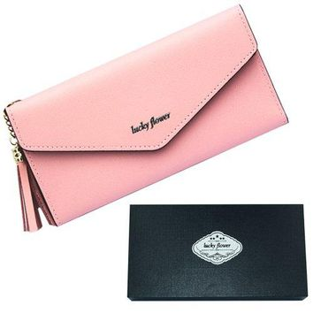 LUCKY FLOWER Travel Wallet Passport Holder Leather Credit Card Holder Clutch Purse With Zipper Pocket hellip