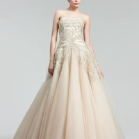 Marchesa Couture Embroidered Princess Gown