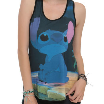 Disney Lilo & Stitch Sad Sublimation Girls Tank Top