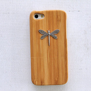 Dragonfly iPhone 5 Case Dragonfly iPhone 5s Case Dragonfly iPhone 4 iPhone 4s Case Dragonfly Wood Case iPhone 6 Plus Wood Bamboo