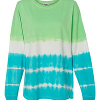 J. America Game Day Jersey Tie Dye Collection-Lime/Maui Blue