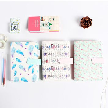 Trend Stationery Cute leather spiral notebooks stationery,candy person agenda planner organizer stationery libretas y cuadernos