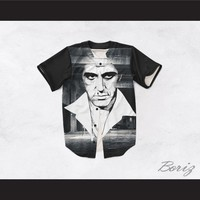 Tony Montana Scarface 20 Black and White Warehouse Baseball Jersey