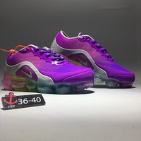 """Nike Air VaporMax"" Women Sport Casual Fashion Rainbow Air Cushion Nano-drop Plastic Running Shoes Sneakers"