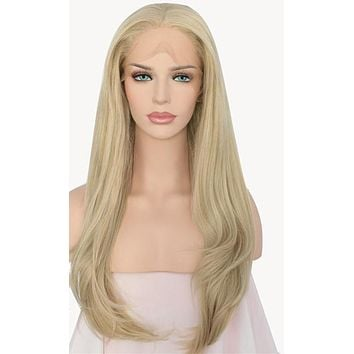 Danna- Light Blond High Temperature  Synthetic Fiber Hair Lace Front Wig