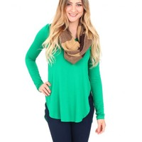 Love Me Harder Kelly Green Tunic | Monday Dress Boutique