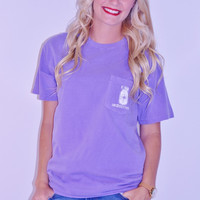 Southern Drift Southern State of Mind Tee ~ Violet