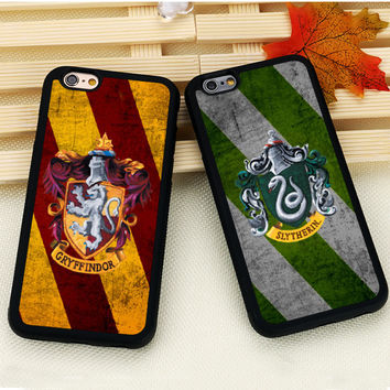 Harry Potter Hogwarts Gryffindor Slytherin Mobile Phone Case For iPhone 6 6S Plus 7 7 Plus SE 5S SE 5C 4 Soft Rubber Cover Shell