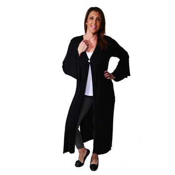 Womens 24/7 Comfort Apparel Maxi Cardigan