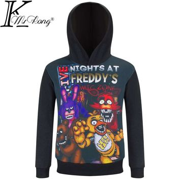 Cheap Sale Fashion Boys Girls five night at freddy Spring Autumn Sport Hoodies Outerwear Children Kids School Outfits Clothing
