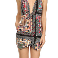 Summer Yummy Heavenly Romper -Black Peach