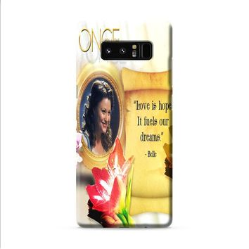 BELLE ONCE UPON A TIME Samsung Galaxy Note 8 case