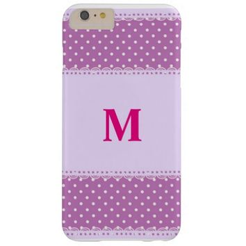 pink backround with white dots. barely there iPhone 6 plus case