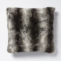 Faux Fur Ombre Pillow Cover - Gray