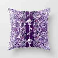 Purple Roses Throw Pillow by ecreativeartdesign