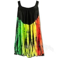Rasta and Reggae Tie-Dye Top / Mini-Dress @ RastaEmpire.com