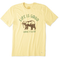 Men's Gone Fishing Bear Crusher Tee