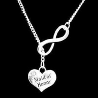 Infinity Maid Of Honor Gift Wedding Party Bridal Y Lariat Style Necklace