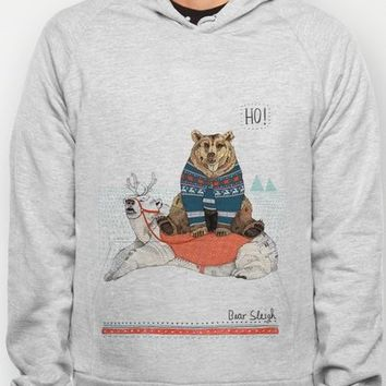 Bear Sleigh // Festive Furries No.2 Hoody by Sandra Dieckmann Illustration | Society6