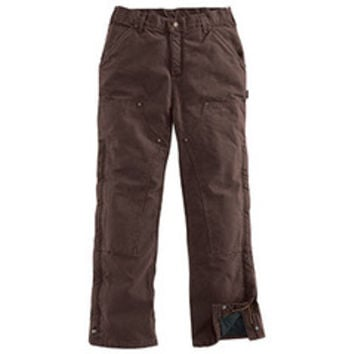 Carhartt Men's Big & Tall Sandstone Duck Quilt-Lined Waist Overall Pant