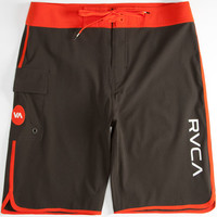 Rvca Eastern Mens Boardshorts Black/Red  In Sizes