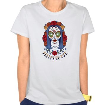 Fleurs du mal - Flowers of Evil - Sugar Skull T-Shirt - Clothing for women, men and children