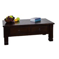 Sunny Designs 3133DC Santa Fe Coffee Table In Dark Chocolate